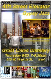 Thursday Night Music & Cocktails with 4th Street Elevator @ Great Lakes Distillery Tasting Room | Milwaukee | Wisconsin | United States