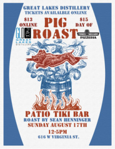 pig roast poster for newsletter