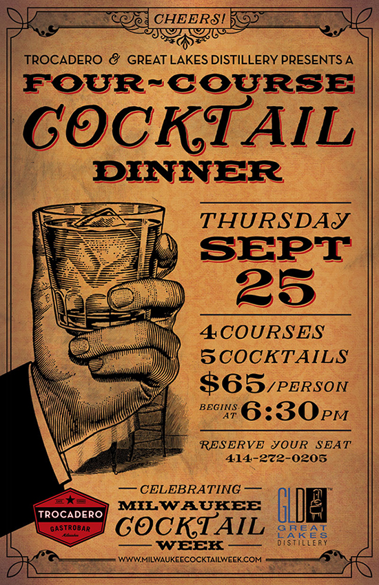 Milwaukee Cocktail Week 4-Course GLD Cocktail Dinner @ Trocadero Gastrobar | Milwaukee | Wisconsin | United States