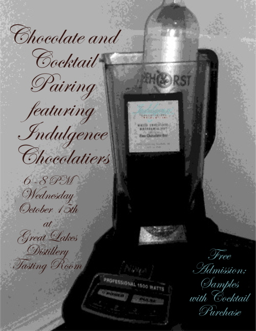 Chocolate & Cocktail Pairing featuring Indulgence Chocolatiers @ Great lakes distillery | Milwaukee | Wisconsin | United States