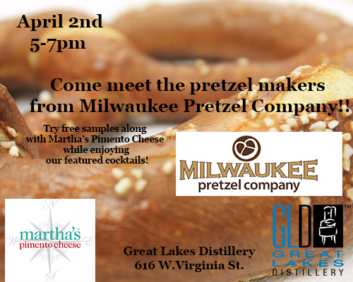 Milwaukee Pretzel Company Happy Hour @ Great Lakes Distillery | Milwaukee | Wisconsin | United States