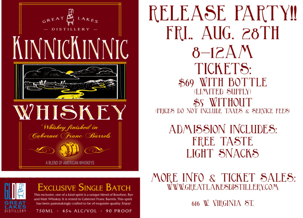 Kinnickinnic Whiskey-Wine Cask Finished Release Party @ Great Lakes Distillery | Milwaukee | Wisconsin | United States