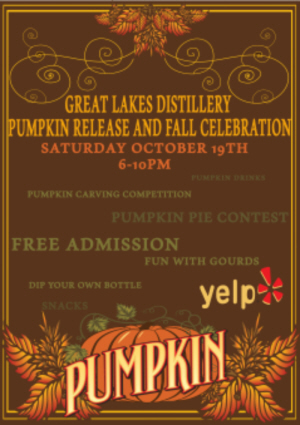 Pumpkin Release & Fall Celebration @ Great Lakes Distillery | Milwaukee | Wisconsin | United States