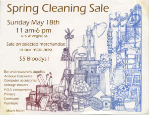 Spring Cleaning poster for newsletter