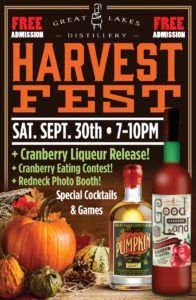 Harvest Fest & Good Land Cranberry Liqueur Release @ Great Lakes Distillery | Milwaukee | Wisconsin | United States