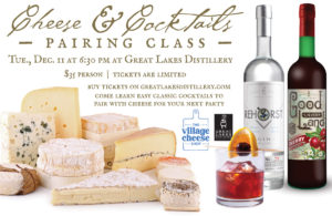Cheese & Classic Cocktail Pairing Class @ Great Lakes Distillery | Milwaukee | Wisconsin | United States