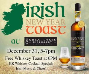 Irish New Year Toast @ Great Lakes Distillery | Milwaukee | Wisconsin | United States
