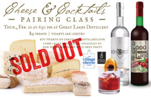 SOLD OUT - Cheese & Cocktail Pairing Class @ Great Lakes Distillery | Milwaukee | Wisconsin | United States