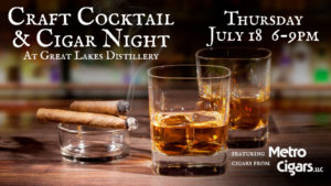 A Night of Cigars & Craft Cocktails @ Great Lakes Distillery   Milwaukee   Wisconsin   United States