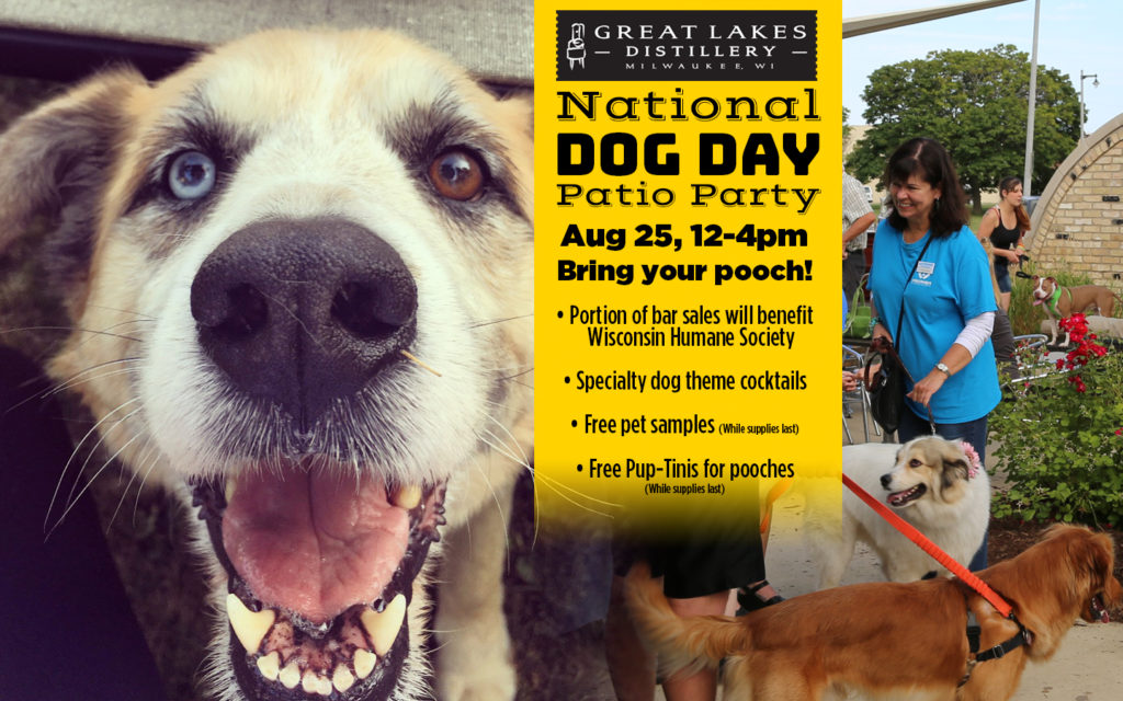 National Dog Day Patio Party @ Great Lakes Distillery | Milwaukee | Wisconsin | United States