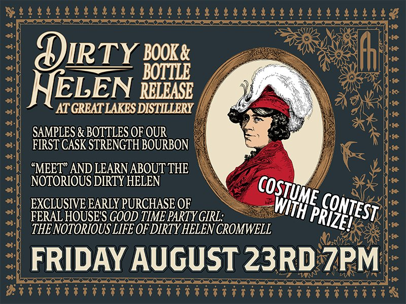 Dirty Helen Book & Bourbon Release Party @ Great Lakes Distillery | Milwaukee | Wisconsin | United States