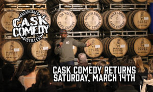 SOLD OUT! Cask Comedy! Presented by Milwaukee Comedy at Great Lakes Distillery @ Great Lakes Distillery