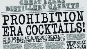 SOLD OUT! Prohibition Era Cocktail Class @ Great Lakes Distillery